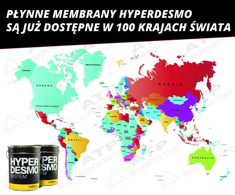 hyperdesmo w 100 krajach świata